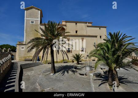 Santuari de Sant Salvador fortress, Arta, Majorca, Balearic Islands, Spain - Stock Photo