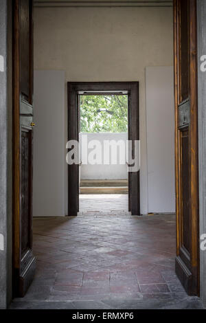 ... A door leading to another door in an old Italian house. - Stock Photo & Corridor Leading to an Old Door in the Lunatic Asylum Wing of a ...