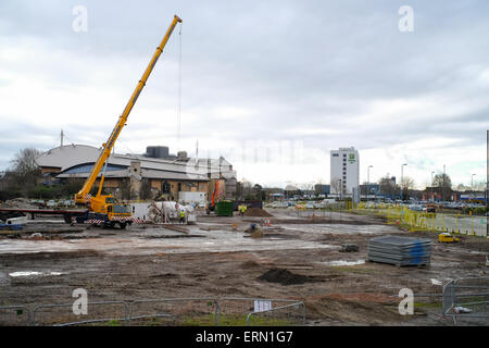 Construction site of new development of Westquay watermark - Stock Photo