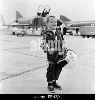 Fouur year old old Richard Masrshall, son of Phantom pilot Lieutenant Commander Peter Marshall of the Fleet Air - Stock Photo