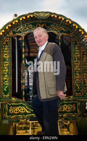 Appleby, Cumbria, Uk. 5th June, 2015. John Buck, 78 years old at the Appleby Horse Fair in Cumbria.  Jack has attended - Stock Photo