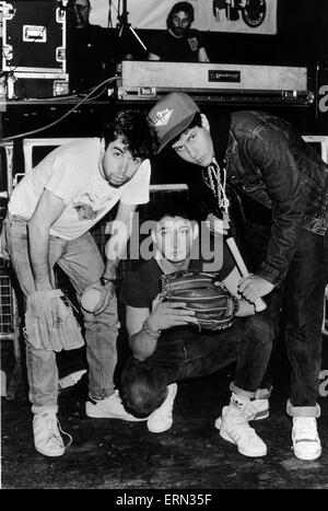 Beastie Boys, in concert at the Barrowland Ballroom, Glasgow, Scotland, Friday 29th May 1987 - Stock Photo
