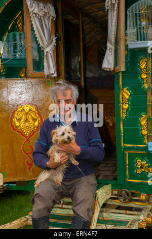 Appleby, Cumbria, Uk. 5th June, 2015.  Jack Evans at the Appleby Horse Fair in Cumbria.  The Fair is an annual gathering - Stock Photo