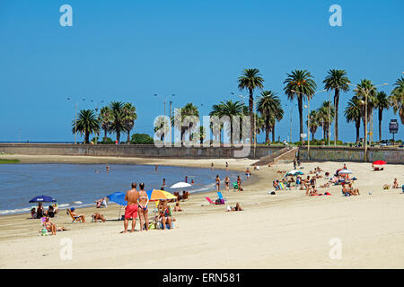 Playa de los Pocitos Montevideo Uruguay - Stock Photo