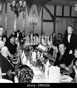 Birmingham City football club players and guests attend a banquet at the Park Lane Hotel, Piccadilly in London for - Stock Photo
