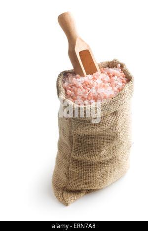 Himalayan salt in the bag - Stock Photo