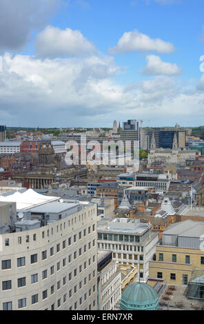 high angle view of leeds town built in 1858 designed by cuthbert brodrick  yorkshire united kingdom - Stock Photo