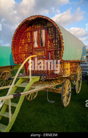 Appleby, Cumbria, Uk. 5th June, 2015. Expensive Bow wagon, worth 40,000 to 50,000 pounds at the Appleby Horse Fair - Stock Photo