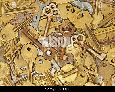Old metal keys suitable as background. - Stock Photo