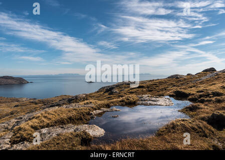 Looking across The Minch from Eriskay - Stock Photo