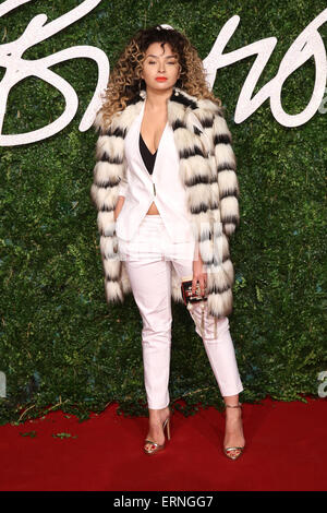 The British Fashion Awards 2014 held at London Coliseum - Arrivals  Featuring: Ella Eyre Where: London, United Kingdom - Stock Photo