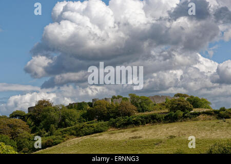 Clouds Above Carisbrook Castle, Newport, Isle of Wight, England - Stock Photo