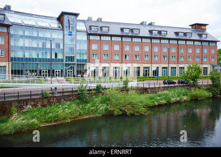 Radisson Blu Hotel, Framwelgate Waterside Durham UK - Stock Photo