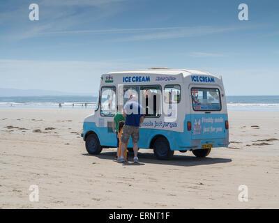 Ice cream van on Black Rock Sands - Stock Photo