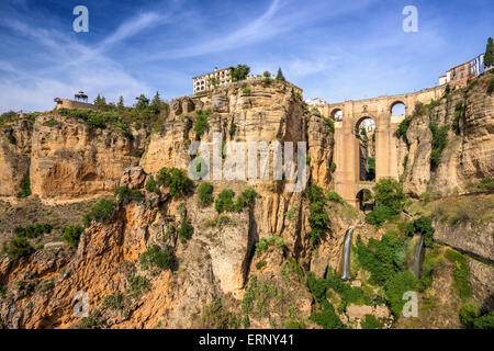 Ronda, Spain at the Puente Nuevo Bridge. - Stock Photo