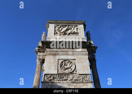 Italy. Rome. Arch of Constantine. 312 AD. Triumphal arch. Erected to celebrate Constantine's victory over Maxentus. - Stock Photo