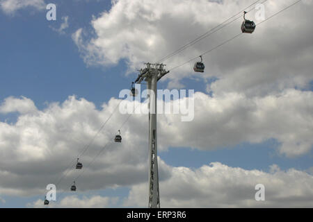 london emirates airline cable car - Stock Photo