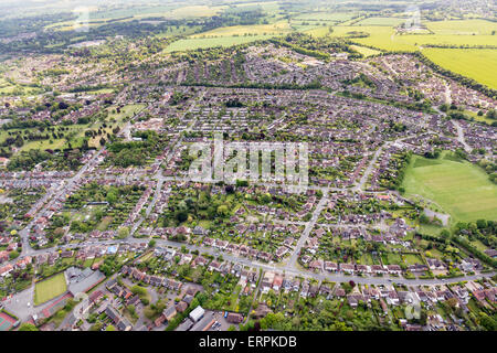 aerial photo view of Bury St Edmunds - Stock Photo