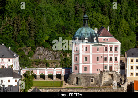 Becov Nad Teplou . Baroque and Gothic Castle ,Czech beautiful Castle, region Karlovy Vary, Czech Republic, Europe - Stock Photo