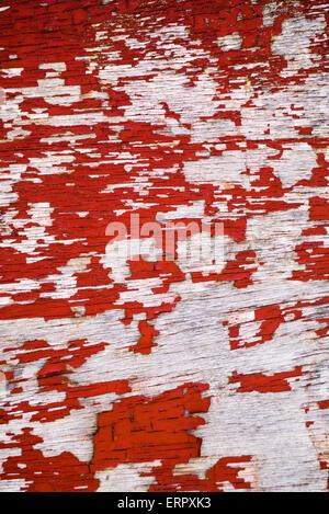 Weathered wood with peeling paint. - Stock Photo