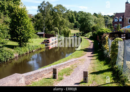 The Staffordshire and Worcestershire Canal, Kinver, Staffordshire, England, UK - Stock Photo