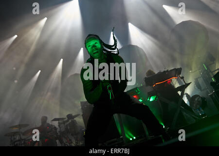 Mendig, Germany. 06th June, 2015. Singer Keith Palmer aka Maxim performs with the British electro-punk band 'The - Stock Photo