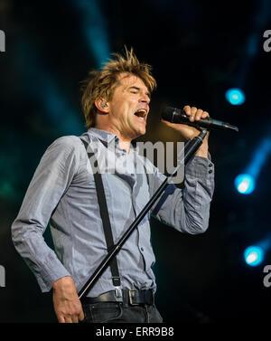 Nuremberg, Germany. 06th June, 2015. Campino, singer in the German band 'Die Toten Hosen, ' perfroms at the 'Rock - Stock Photo