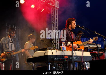 London, UK. 7th June, 2015. Gaz Coombes at Field Day Festival. Credit:  Rachel Megawhat/Alamy Live News - Stock Photo