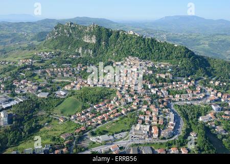 REPUBLIC OF SAN MARINO (aerial view). - Stock Photo