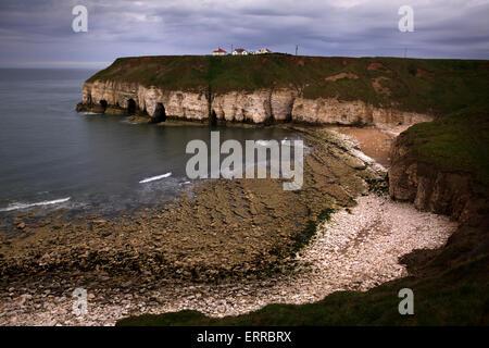 Thornwick Bay, Flamborough, Bridlington, Yorkshire, England - Stock Photo