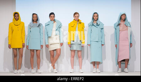 01/06/2015. London, UK. Collection by Pognat. Fashion show of Kingston University at Graduate Fashion Week 2015. - Stock Photo
