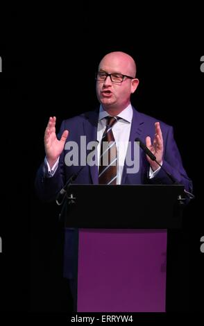 UK Independent Party deputy leader Paul Nuttall speaks during UKIP South East Conference 2015 at the Winter Gardens - Stock Photo