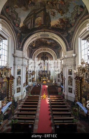 Interior of St. Clement Church, Prague, Czech Republic - Stock Photo