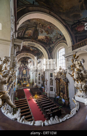 Interior of St. Clement Church, Prague, Czech Republic - Stock Photo