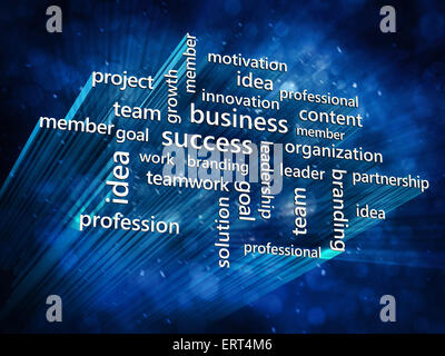 Business and success concept background in blue tones - Stock Photo