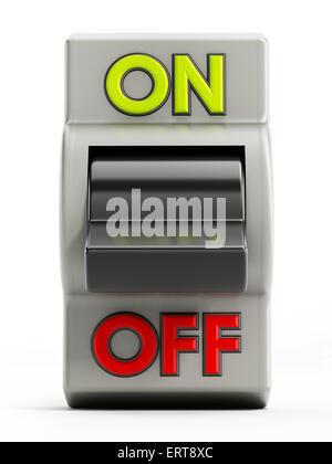 On off button isolated on white background - Stock Photo