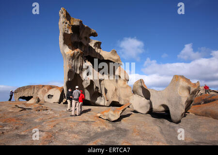 Remarkable Rocks in Flinders Chase National Park, Kangaroo Island, South Australia. - Stock Photo