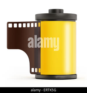 Photo film roll isolated on white background - Stock Photo
