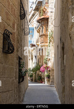 Narrow Streets Rabat Malta - Stock Photo