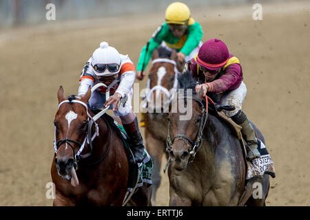 New York, NY, USA. 6th June, 2015. JUNE 6, 2015: March, ridden by Irad Ortiz Jr., wins the the 31st running of the - Stock Photo