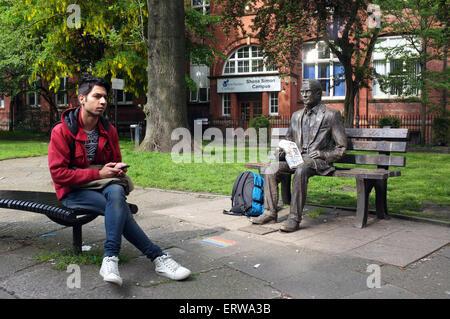 The Alan Turing Memorial statue in Sackville Park Manchester - Stock Photo