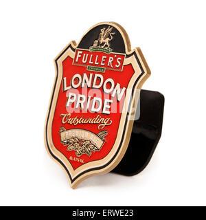 Fuller's Brewery 'London Pride' premium ale pump clip - Stock Photo