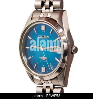 Vintage 1970's Citizen 'Eagle 7' wristwatch. - Stock Photo