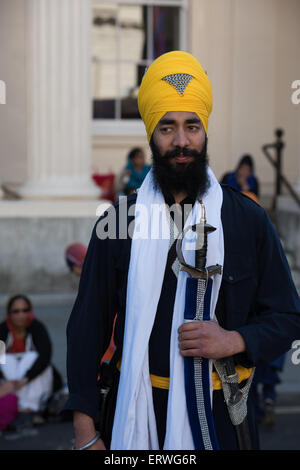 London, UK. 07th June, 2015. Sikh Freedom March and Rally in Central London UK, 7th June 2015. Credit:  pmgimaging/Alamy - Stock Photo