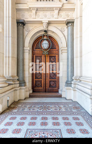 Doorway of Parliament House, Melbourne, Australia - Stock Photo