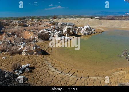 Celestine Mine Solvay, Escuzar, Granada province, Region of Andalusia, Spain, Europe - Stock Photo