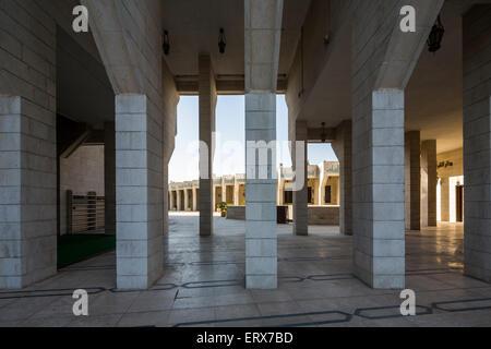 entrance, King Abdullah I Mosque in Amman, Jordan. - Stock Photo