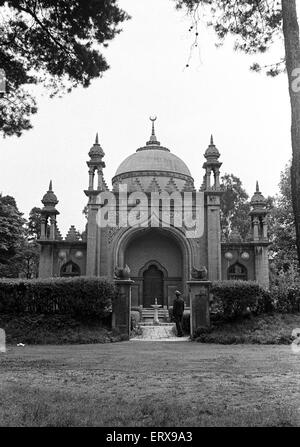 The Shah Jahan Mosque in Woking, Surrey.  The Mosque, built in 1889 by Dr Gottleib Wilhelm Leitner, was the first - Stock Photo