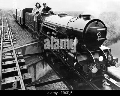 The steam engine hercules on the Romney, Hythe and Dymchurch Light Railway in Kent. 14th February 1970. - Stock Photo