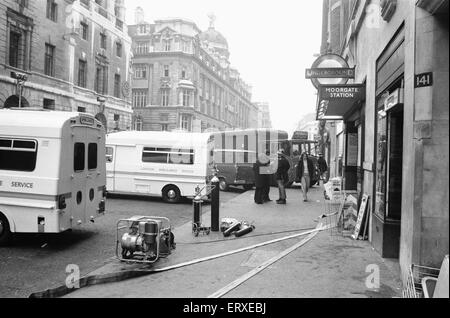 The Moorgate tube crash occurred on Friday 28 February 1975 at 08:46 on the Northern Line (Highbury Branch). A southbound - Stock Photo